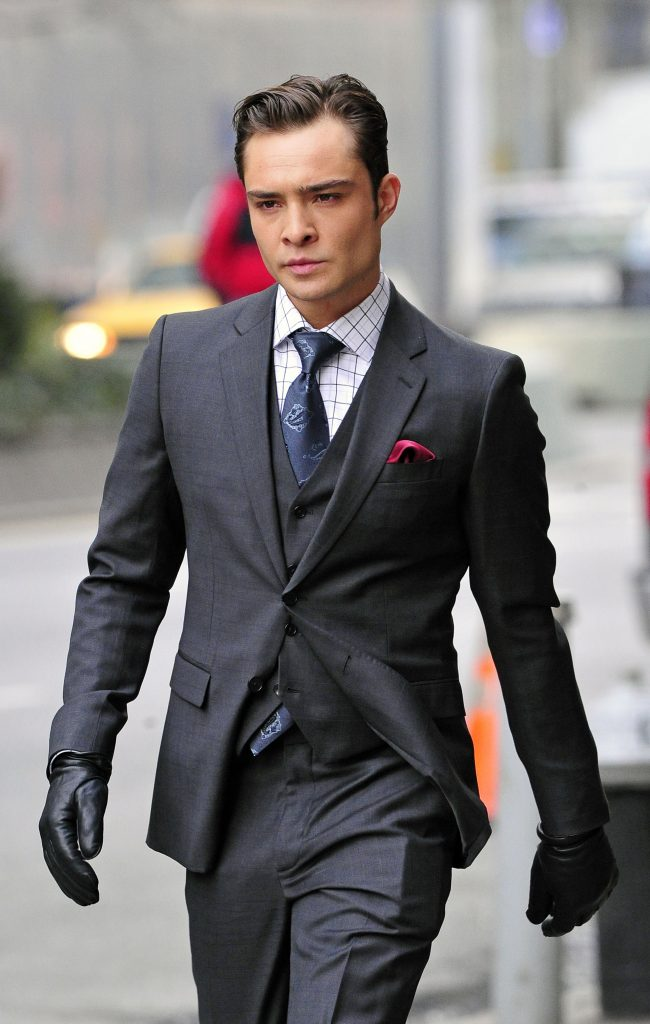 Ed Westwick seen filming Gossip Girl in New York City