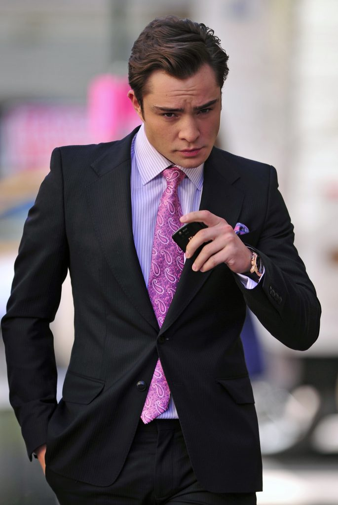 Ed Westwick seen on the set of Gossip Girl in New York City