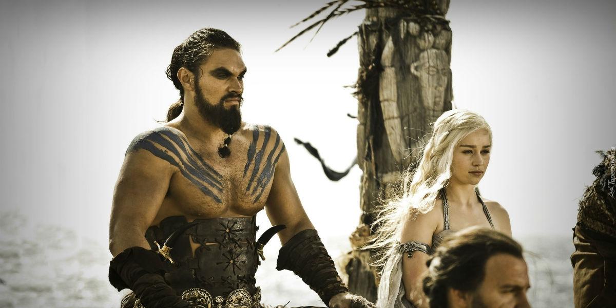 Gra o tron Emilia Clarke Jason Momoa