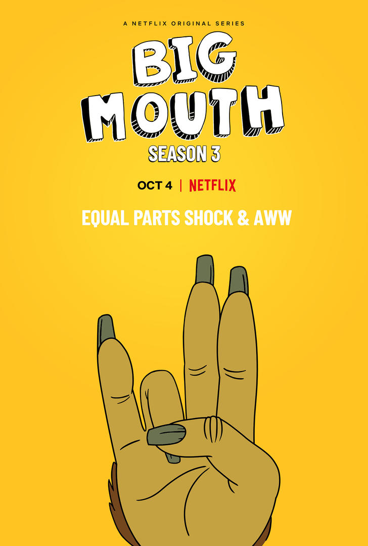 Big Mouth sezon 3 kiedy premiera