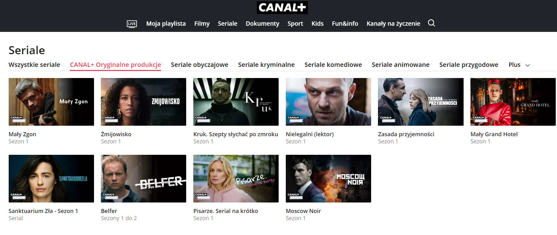 Canal+ seriale oryginalne